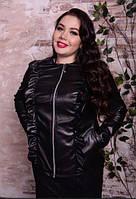 Шкіряна куртка з рюшами, з 48 по 82 розмір, фото 1