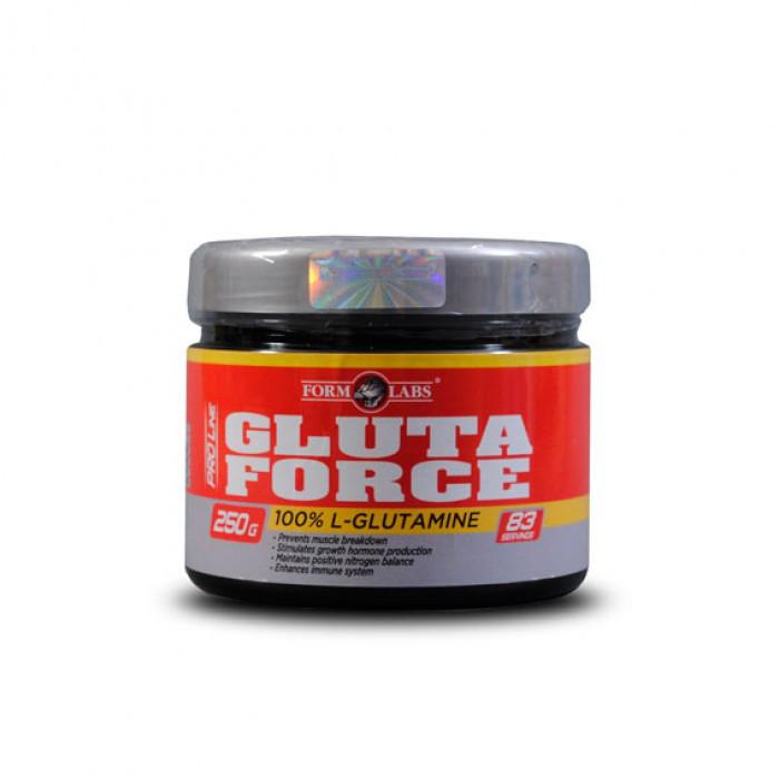 Аминокислоты Глютамин GlutaForce (250 г) Form Labs