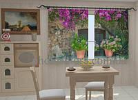Фотоштора Цветы в горшках для кухни