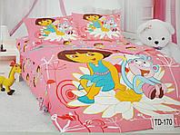 Детское сатиновое постельное белье Elway 3D TD-170