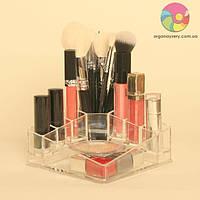 Компактный органайзер-подставка для косметики