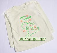 Детский реглан р. 68 для мальчика или девочки тонкий ткань КУЛИР 100% хлопок ТМ Авекс 4027 Желтый