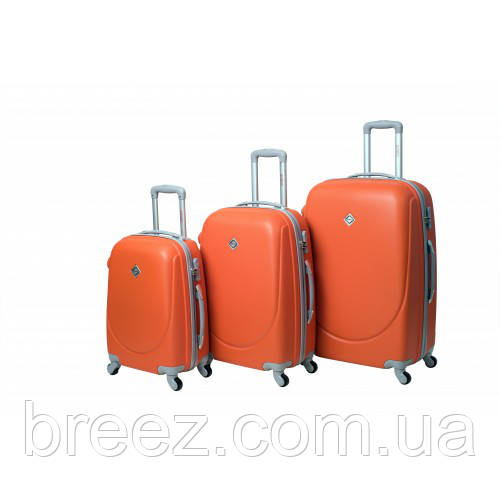 Чемодан Bonro Smile  набор 3 штуки с двойными колёсами оранжевый
