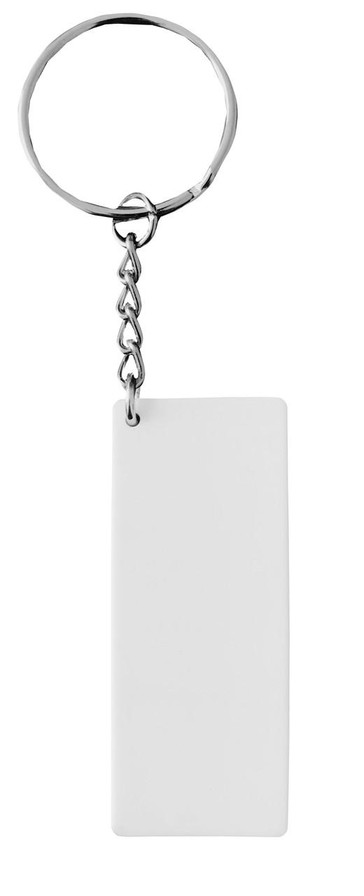 Брелок пластиковый для сублимации Прямоугольник маленький