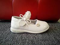 Белые лаковые туфельки для девочки 20-25