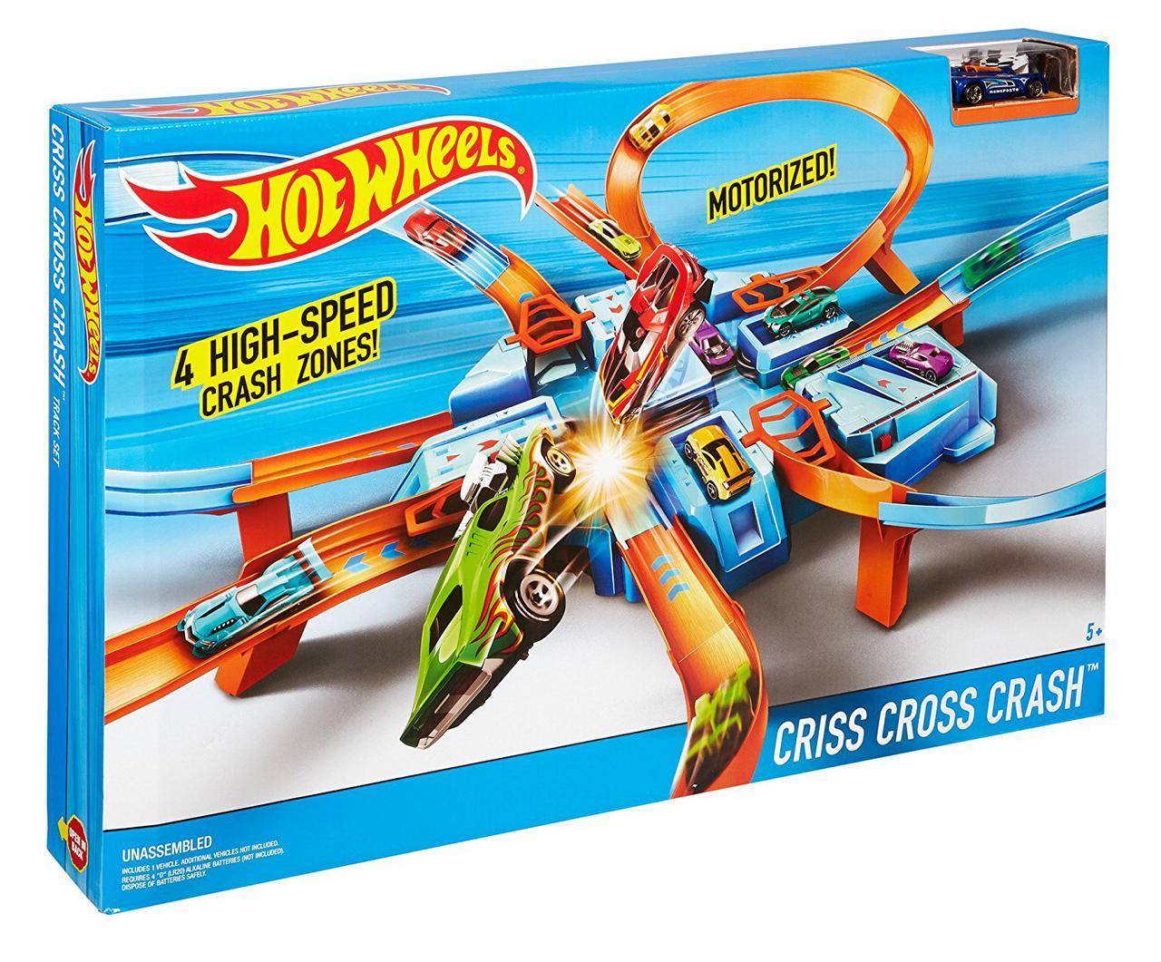 Трек Хот Вилз перекрестное столкновение / Hot Wheels Criss Cross Crash Trackset