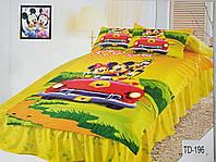 Детское сатиновое постельное белье Elway 3D TD-196 «Микки Маус»