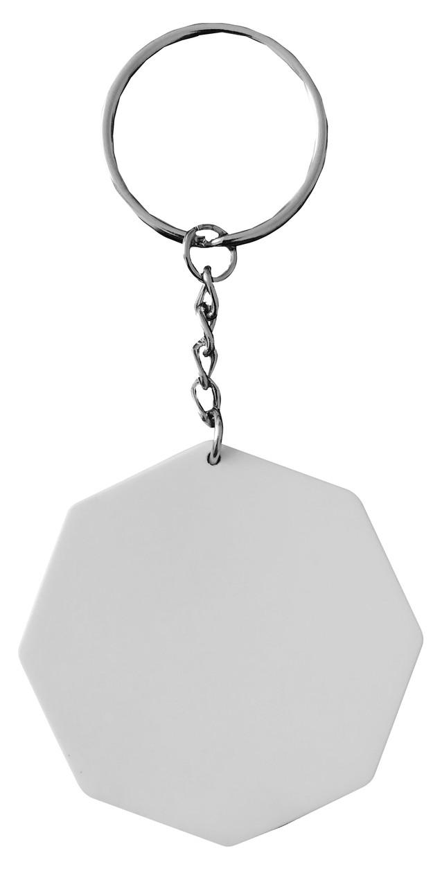 Брелок пластиковый для сублимации Восьмиугольник