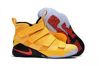 "Кроссовки Nike LeBron Soldier 11 ""Yellow Black"", фото 1"