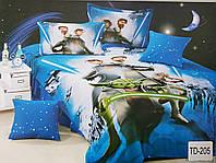 Детское сатиновое постельное белье Elway 3D TD-205