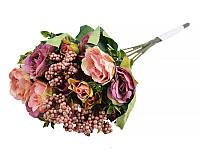 """Цветок искуственный """"Розочка с кашкой"""",ткань, 30 см, Lefard, 14-250"""