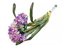 """Цветок искуственный """"Аллиум"""" 2 головы 35 см, латекс, Lefard, 14-321"""