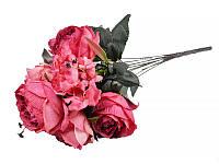"""Букет """"Роза винтаж"""" 53 см, ткань, Lefard, 14-326"""