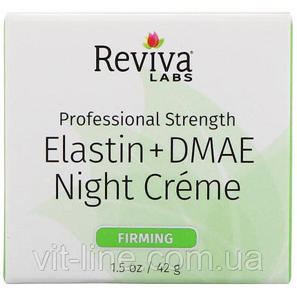 Reviva Labs, Эластин + DMAE ночной крем (42 г), фото 2