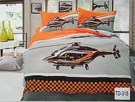 Детское сатиновое постельное белье Elway 3D TD-315 «Вертолёт»