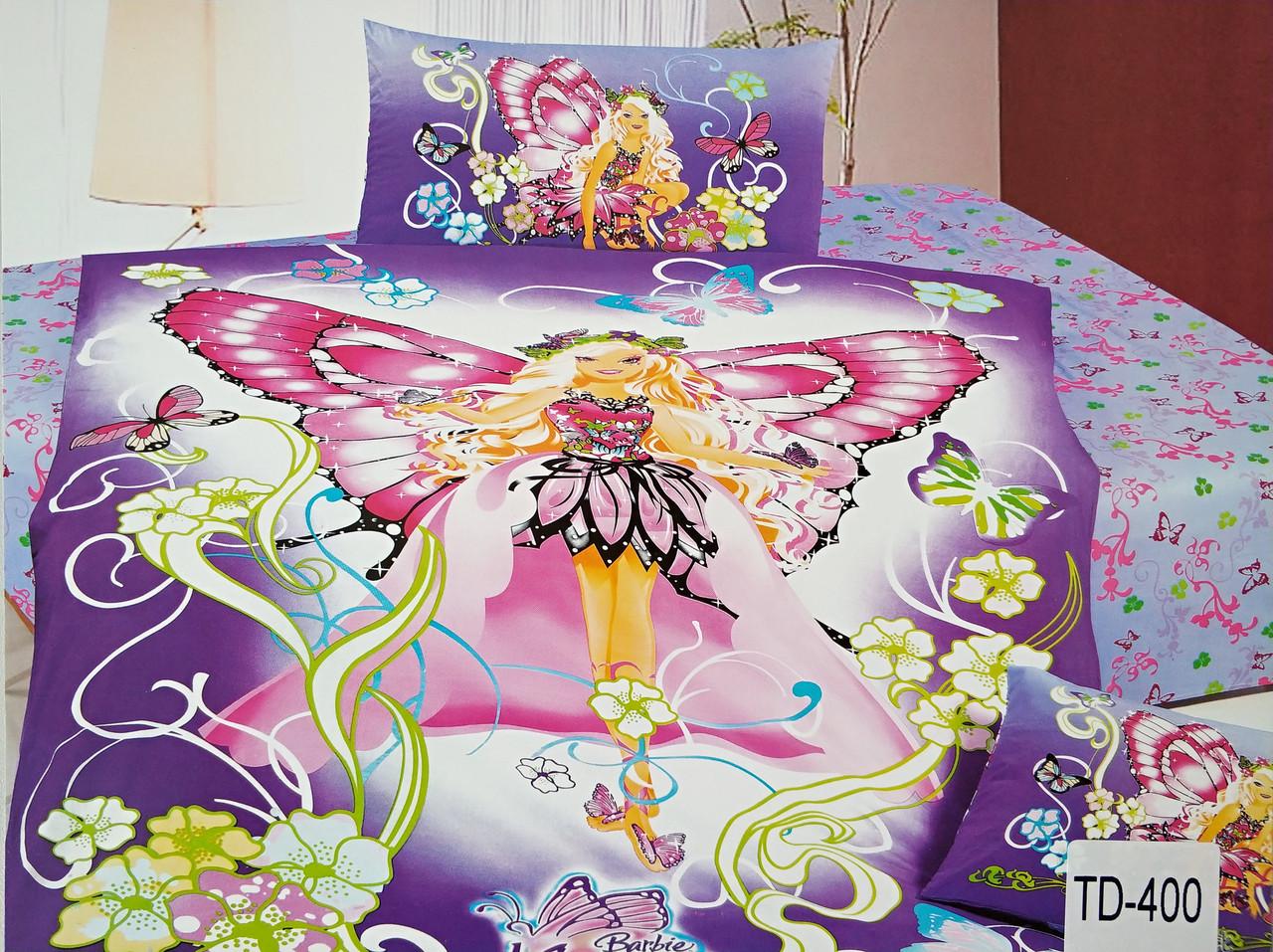 Детское сатиновое постельное белье Elway 3D TD-400 «Принцесса фея»