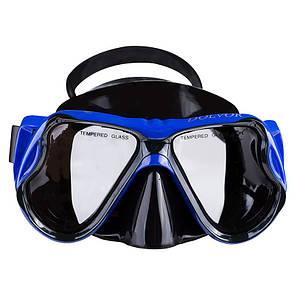 Маска для плавання в коробі Dolvor M6203S синя