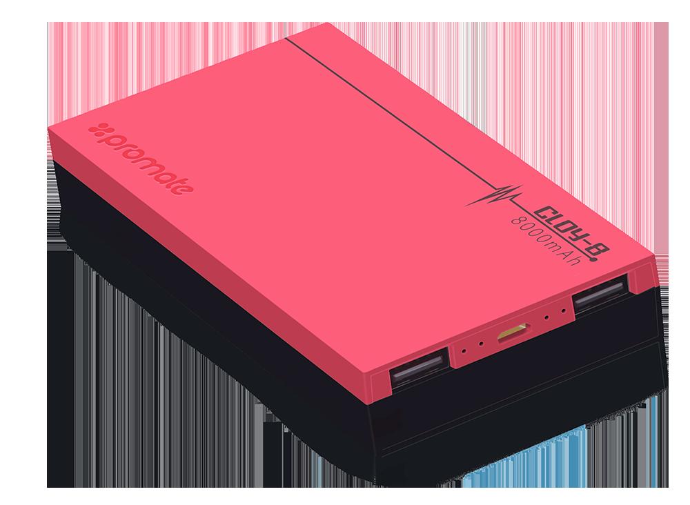Компактный аккумулятор Promate Cloy-8 Pink