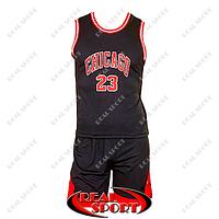 Баскетбольная форма подростковая NBA Чикаго Буллз №23, черная