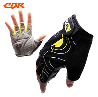 Велосипедные перчатки CBR MTB Half Finger Gel (black yellow) и (Fluorescent  yellow)