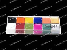 Набор цветных кремовых теней из 12 цветов  (12 Color make up)