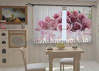 Фотоштора Лепестки роз для кухни