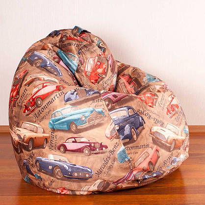 Кресло мешок Груша XXL | Микровелюр Print, фото 2