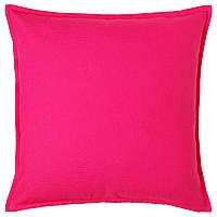 ГУРЛИ Наволочка на подушку, розовый, 50x50 см 00370162 IKEA, ИКЕА, GURLI