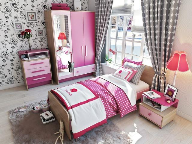 Детская комната Акварели (розовая)