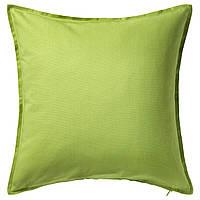 ГУРЛИ Наволочка на подушку, зеленый, 50x50 см 00281142 IKEA, ИКЕА, GURLI
