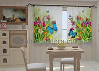 Фотошторы Небесные бабочки в кухне