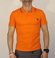 Футболка-поло мужская Tommy Hilfiger Реплика апельсиновый