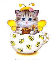 Котенок желтый (полная выкладка)20*20 см