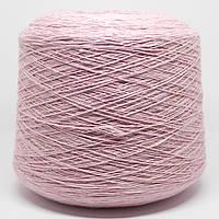 Пряжа-полушерсть, розовый нежный (50% меринос, 50% ПА; 350 м/100 г)