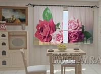 Фотошторы на кухню Садовые розы