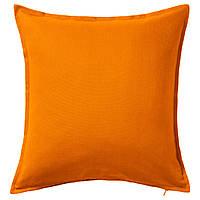 ГУРЛИ Наволочка на подушку, оранжевый, 50x50 см 10281146 IKEA, ИКЕА, GURLI