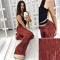 Женские плиссированные брюки