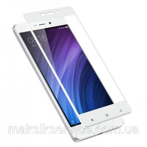 Защитное стекло Full Screen для Xiaomi Redmi 4A белое