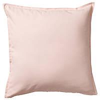 ГУРЛИ Наволочка на подушку, светло-розовый, 50x50 см 20343629 IKEA, ИКЕА, GURLI