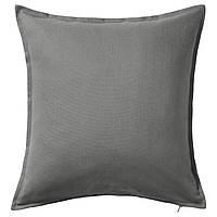 ГУРЛИ Наволочка на подушку, серый, 50x50 см 60281144  IKEA, ИКЕА, GURLI