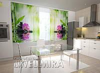 Фотоштора на кухню Орхидеи и солнце