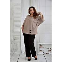 Бежевая блузка 42-74 размер ККК651-0412-1