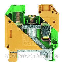 Винтовые клеммы на DIN-рейку WK 6 SL/U (желто-зеленый)