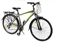 """Велосипед Crosser City Life Man 28"""" серый горный алюминиевый"""