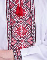 Мужская вышиванка c красным орнаментом, фото 1