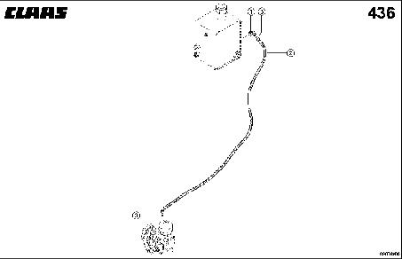 HYDR. PIPE; REEL DRIVE PUMP - CLAAS TUCANO 330 / 320