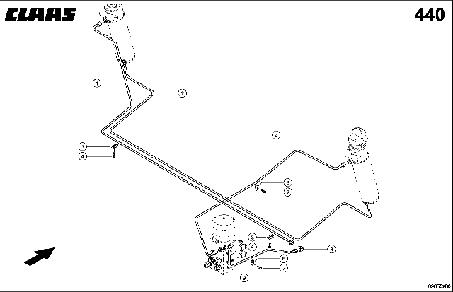 HYDR. PIPE; AUTO-CONTOUR - CLAAS TUCANO 330 / 320