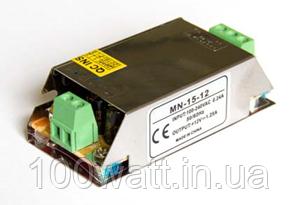 Блок питания для светодиодной ленты MN-15-12 15Вт 12В 1,25A Compact