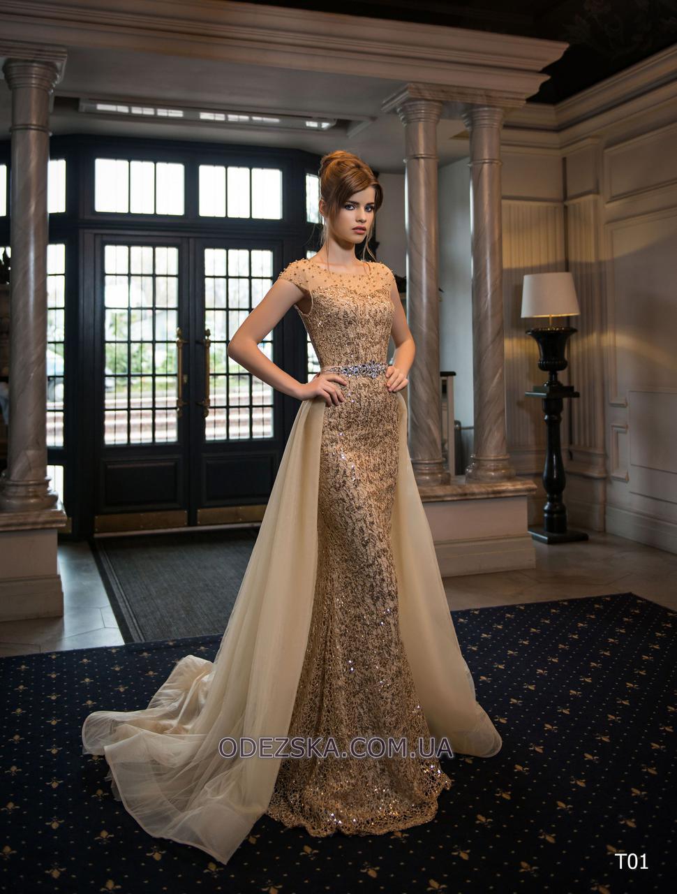 Удивительное силуэтное вечернее платье
