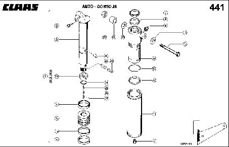 HYDR.-CYL; AUTO-CONTOUR - CLAAS TUCANO 330 / 320